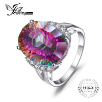 Huge 13ct Rainbow Fire Mystic Topaz Brand New Genuine Solid 925 Sterling Silver Ring Vintage Fashion