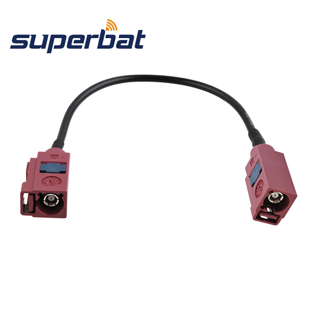 Superbat GSM Antenna Extension Cable Fakra D Female Jack to Female RF Pigtail RG174 Cable 5m