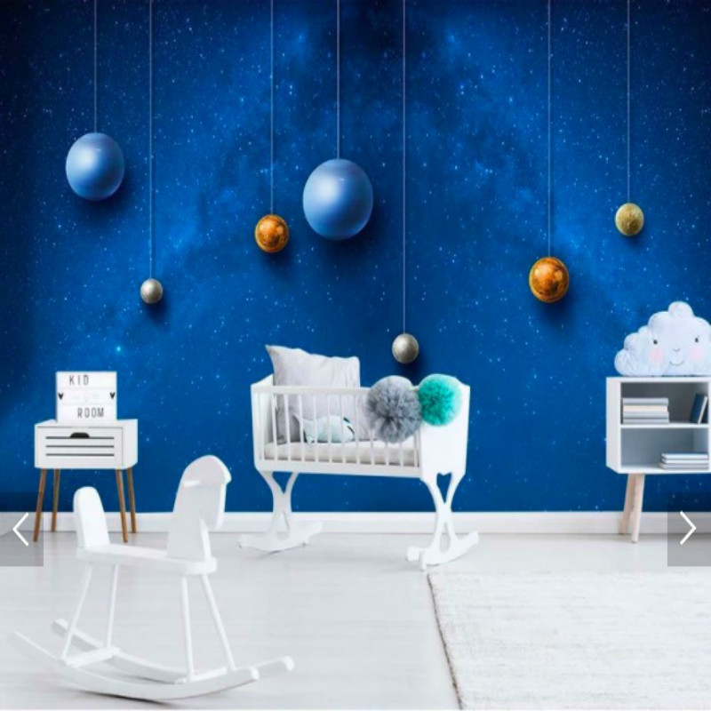 wall background children space painting decor universe papers living wallpapers