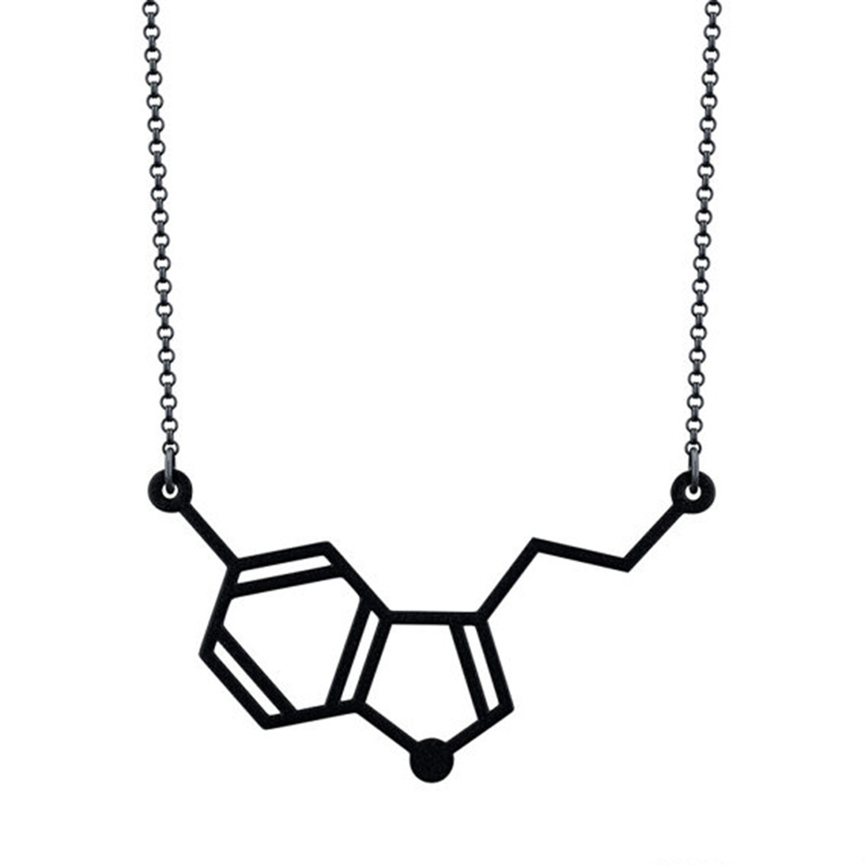 84be2fbd0ecc2 US $17.39 40% OFF|Wholesale Horizontal Serotonin Molecule Necklace free  ship 12pcs/lot-in Pendant Necklaces from Jewelry & Accessories on ...