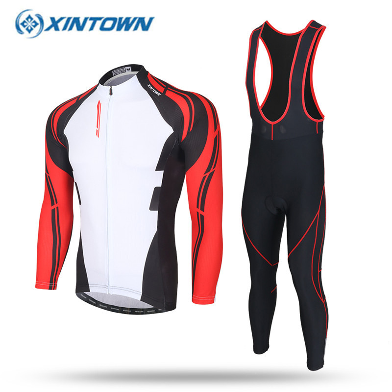 XINTOWN 2017 Summer Men s Cycling Jersey Set Clothing MTB Bike Bicycle  Jerseys Sets Clothes Breathable Quick Dry GEL Seat Pad-in Cycling Sets from  Sports ... e55e63632