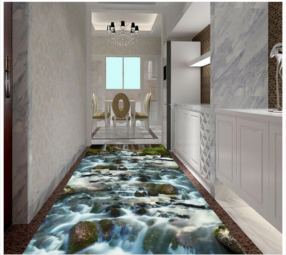 3d Flooring River Stone Creek Bathroom Bedroom 3d Floor