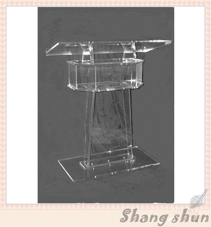 Transparent Lectern Classroom Lectern Podium Clear Acrylic Lectern Stand Modern Church Pulpit Clear Plastic Church Podium