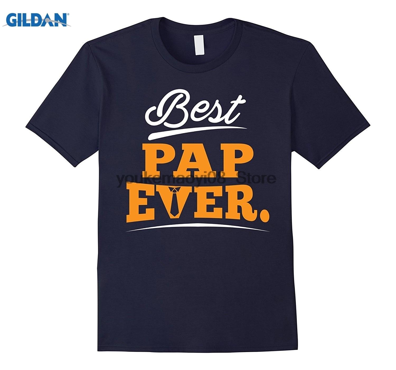 GILDAN cotton printed O-neck T-shirt Best Pap Ever T-Shirt Gift For Grandpa