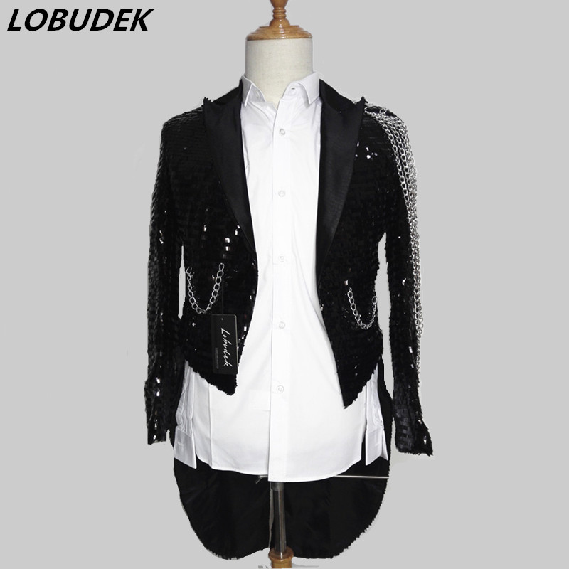 f6f14c46 sequin casual jacket blazer singer dancer show male DS dance costumes  outerwear coat DJ jazz nightclub performance stage prom-in Jackets from Men's  Clothing ...