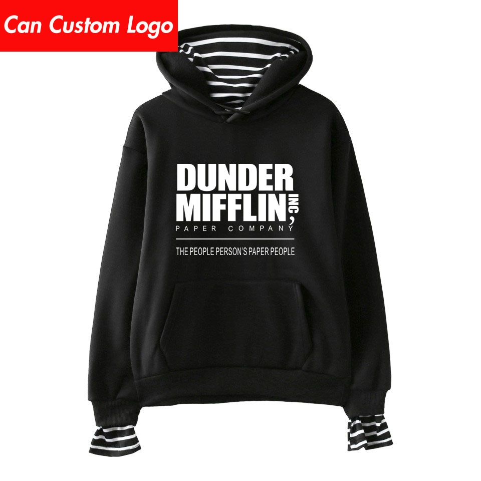 2019 Dunder Mifflin Hoodies Kpop Cotton Turtlenecks Oversized Hoodie Sweatshirt Women Dunder Mifflin Hoodies Moletom Plus Size