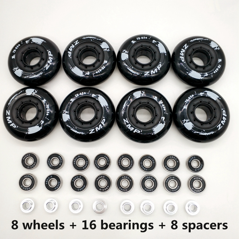Free Shipping Roller Wheels Skate Wheel Black White 85 A PU Wheel
