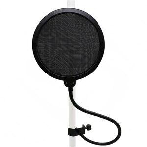 Image 3 - Лидер продаж! Профессиональный черный набор микрофона, Регулируемая металлическая подвеска, ножничная подставка для микрофона, держатель для крепления на ПК, ноутбуке