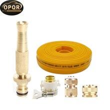 OPQR Ultimate Solid Brass Heavy Duty Adjustable Twist Hose Nozzle and Bonus Jet Sweeper