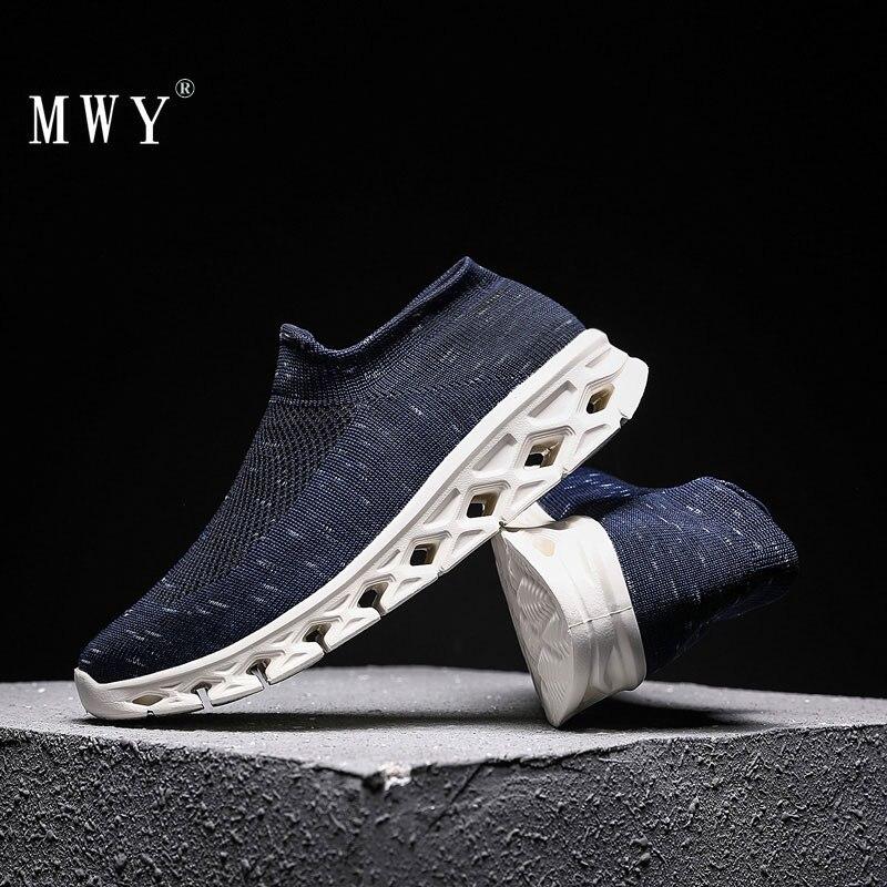 MWY Mode Marke Elastische Stoff Socken Turnschuhe Männer Atmungsaktiv Nicht Slip Freizeit Vulkanisierte Schuhe Plus Größe Zapatillas Hombres