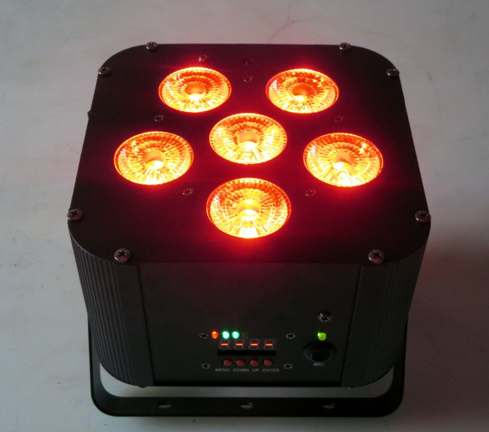 6x18w Rgbwap 6in1 Wireless Wifi Dmx Control Battery Projector Christmas Lights Led Dj In Stage Lighting Effect From On