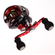 New 17+1 BB 6.3:1 Saltwater Baitcasting Fishing Reel Bait Magnetic Right Hand Fishing Reels