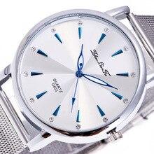 Простой масштаб Сплав серебра циферблат 20 мм Серебряный сплав ремень Для мужчин пара Бизнес кварцевые часы наручные часы Для мужчин S Saat часы C379