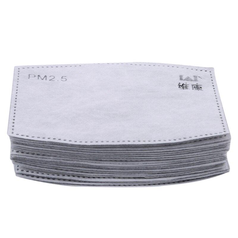 20PCS/Set PM2.5 Activated Carbon Filter Replaceable Anti Haze Dust Masks Filter 20 Pcs/lot Paper Insert Protective Filter Cloth