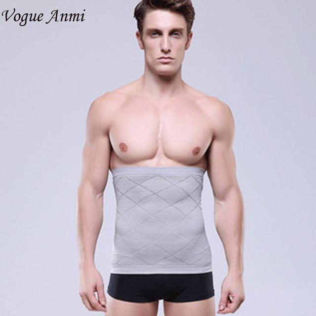 Vogue Anmi. Hombres Que Adelgaza La Cintura Trimmer Faja Cinturón Corsé Beer Belly Wrap Grasa Celulitis Quemador Tummy Control de Estómago faja