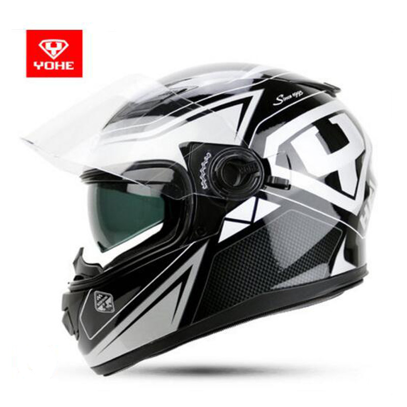 2018 New Spring Summer YOHE Full Face Motorcycle Helmet YH970 Double lens Motorbike Helmets Made of ABS and PC Lens Visor скатерти niklen скатерть 110х145см