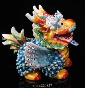 Collectible Fengshui Dragon Statue Trinket Box Unique Dragon Souvenir Home Office Decoration Business Gift Dragon Metal Crafts - DISCOUNT ITEM  5% OFF All Category
