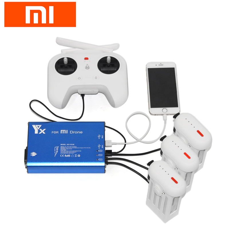 High Quality Xiaomi Mi Drone RC Quadcopter Spare Parts 3 in 1 Battery & Transmitter Remote Controller Charger new arrival xiaomi mi drone rc quadcopter spare parts 17 4v 5100mah battery