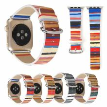 Leather Strap For apple watch band 44mm&for 4 40mm Bracelet for iWatch 3 2 1 42/38mm Accessories
