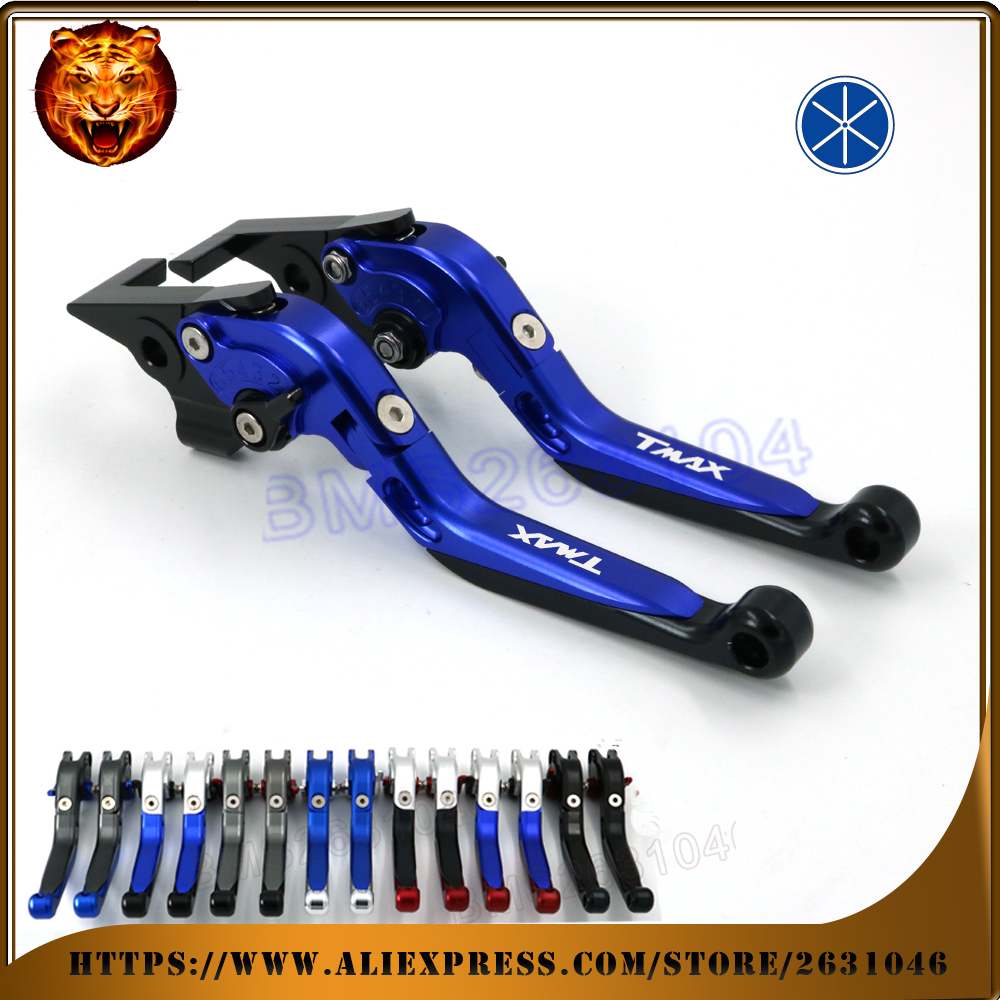 For YAMAHA XP 500 TMAX T-MAX TMAX530 TMAX500 2010 2012 2015 2016 Motorcycle Adjustable Folding Extendable Brake Clutch Lever brake shoe pads set fit yamaha xp500 tmax tmax500 xp 500 t max abs non abs 2008 2009 2010 2011 2012