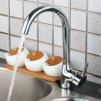 Moderate Price Kitchen Faucet Chrome Polished Single Handle Single Hole Hot Cold Water Eminent Kitchen Faucet