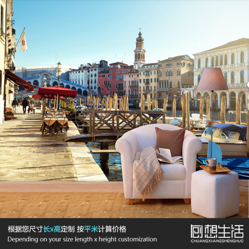 Mural Venice European architectural landscape mural 3D photo wallpaper bedroom living room personality Wallpaper customization yann tiersen venice