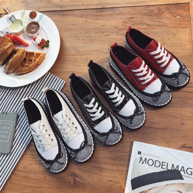 2 Nouveau Mou Femmes Étudiants Fond Chaussures 2018 Croisées Mode Casual Strass 1 Été Blanc Sangles 5YxZxqw6