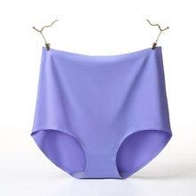 V006 4 pçs/lote qualidade laides roupa interior de seda gelo sem costura calcinha feminina bonito briefs cintura alta lingerie calcinha mais tamanho 4xl