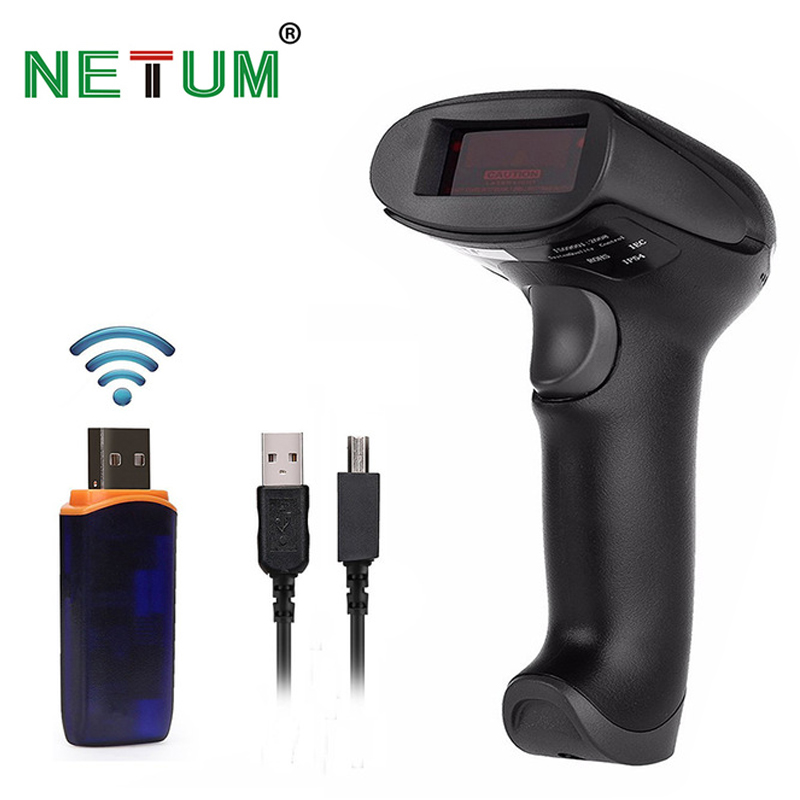 wireless barcode Scanners laser NETUM 2028 high sensitive 433Mhz barcode portable scanner USB reader mobile payment conmputers