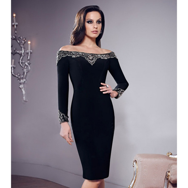 Appliques With Pearls On Full Sleeves Pvc Sexy Dresses Long Back