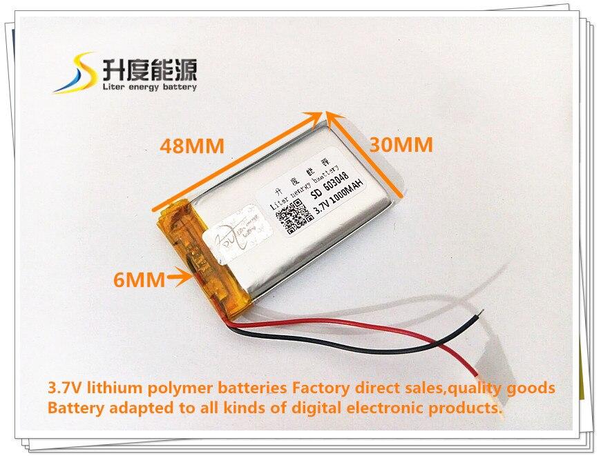 Лучший аккумулятор бренд 3.7 В MP3 MP4 GPS 603048 603048 литий-полимерный аккумулятор беспроводной телефон 1000 мАч