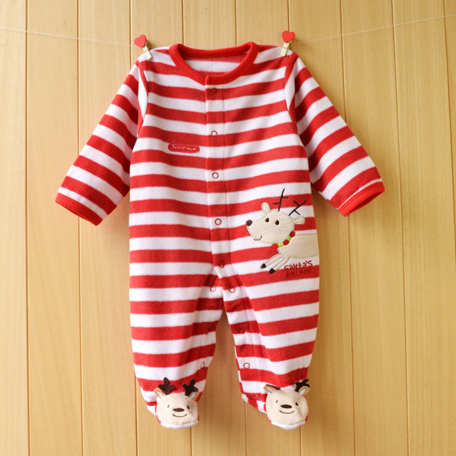 New Autumn/Winter Baby Rompers clothes long sleeved coveralls for newborns Boy Girl Polar Fleece baby Clothing