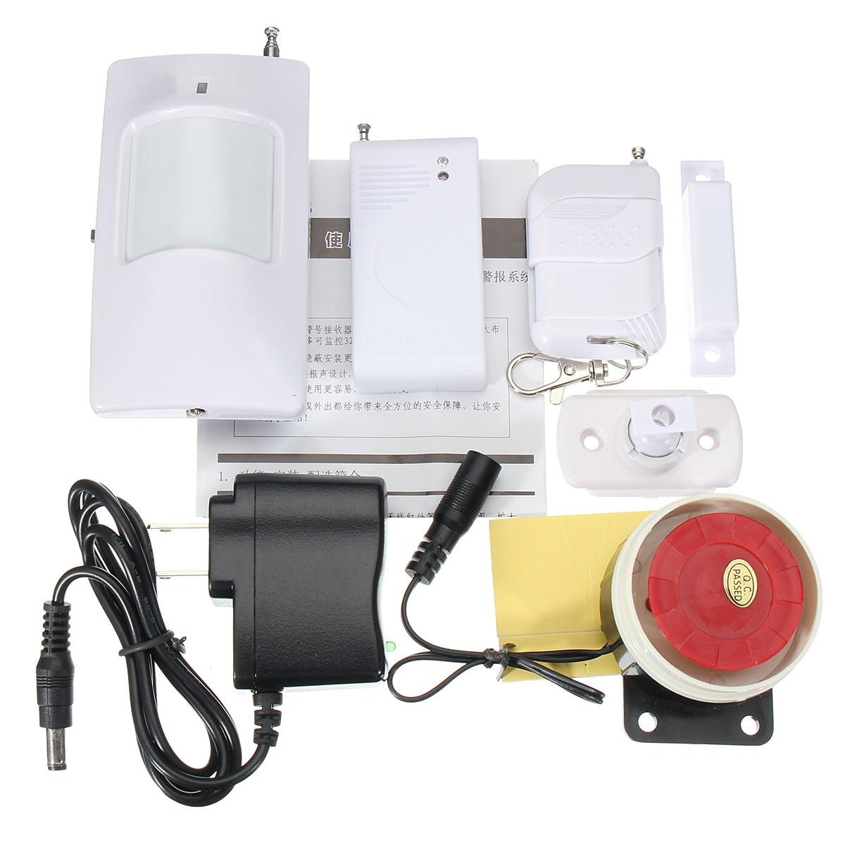 NEW Live Wireless Remote Control Siren PIR Motion Burglar Alarm System Home Security Safety Warning Protection security system alarm protection warning sticker