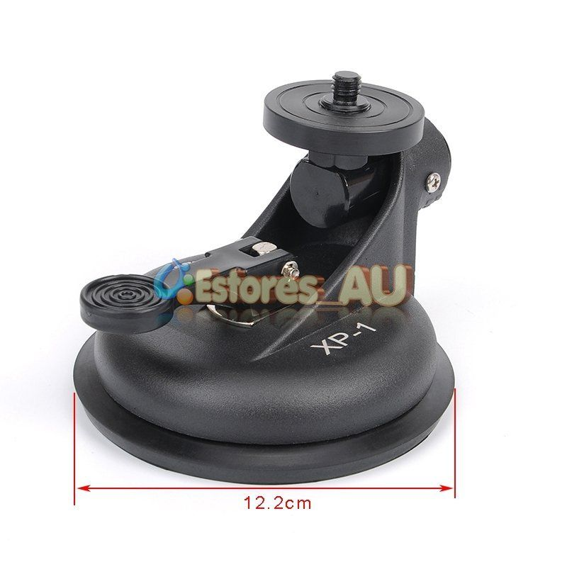 XP-1 Car Suction Cup Sucker Stand Mount Shooting Holder For DV Video 5D 7D DSLR Camera Recorder 360 degree mini suction cup holder w clip car charger for motorola moto g black