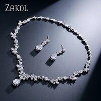 Luxury Marquise Cluster Small Flower Drop Water Drop Shape Cubic Zirconia Diamond Women Jewelry Set Best