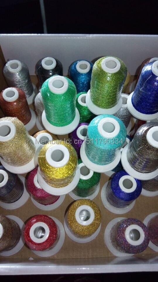 Simthread Brand hot selling Madeira populaire kleuren 500 m metallic borduurgaren met gratis verzending.-in Draad van Huis & Tuin op  Groep 1