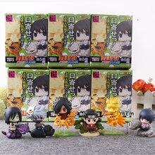 6pcs set Naruto Cute Version Sasuke Uchiha Itachi Uzumaki Naruto Action Figure Japanese Anime font b