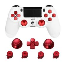 Metal Thumb Grips for PS4 Controller Aluminum Replacement ABXY Bullet Buttons Thumbsticks Chrome D pad for Sony Playstation 4