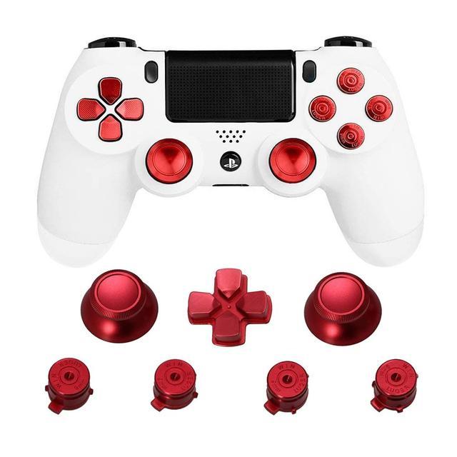 מתכת אוחז אגודל PS4 בקר אלומיניום החלפת ABXY Bullet Thumbsticks כרום d pad עבור Sony פלייסטיישן 4