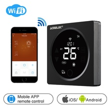 WIFI Thermostat Smart Thermostat Gas Boiler/Watre/Electric Floor Heat WIFI Controlled Thermostat Voice 16A/3A LCD AE-36-D wifi thermostat controlled by ios smart phone energy saving infrared radiator controller
