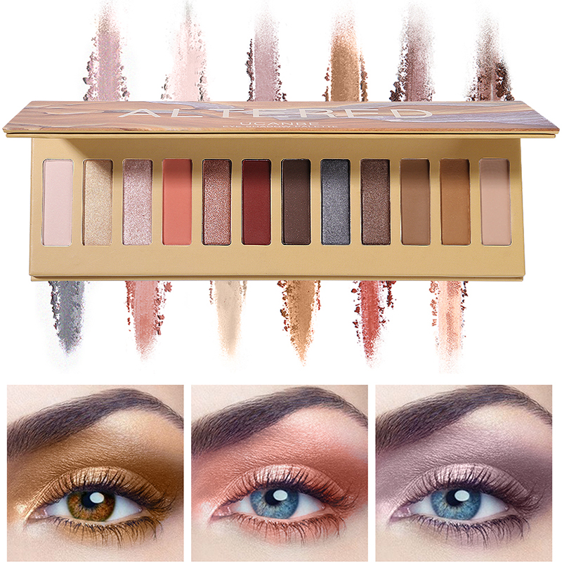 UCANBE Brand 12 Colors Altered Eye Shadow Palette Glitter Matte Shimmer Powder Nude Makeup Kit Cosmetics