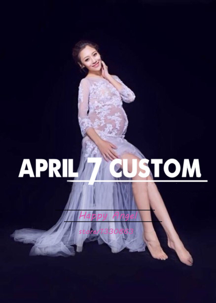 2015 New Maternity pregnant women Photography Props White Dress Pregnancy costume elegant Romantic fashion Summer style