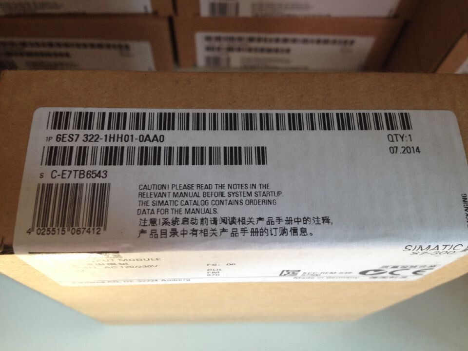Brand New 6ES7322-1HH01-0AA0 6ES7 322-1HH01-0AA0  With Free DHL