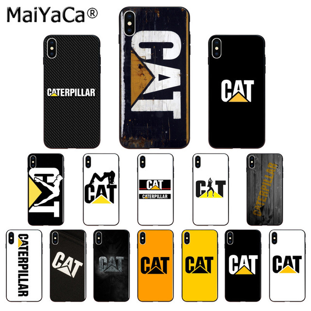 low priced 60079 4458f US $1.21 39% OFF|MaiYaCa Caterpillar LOGO Newly Arrived Black Cell Phone  Case for Apple iPhone 8 7 6 6S Plus X XS MAX 5 5S SE XR Mobile Cases-in ...