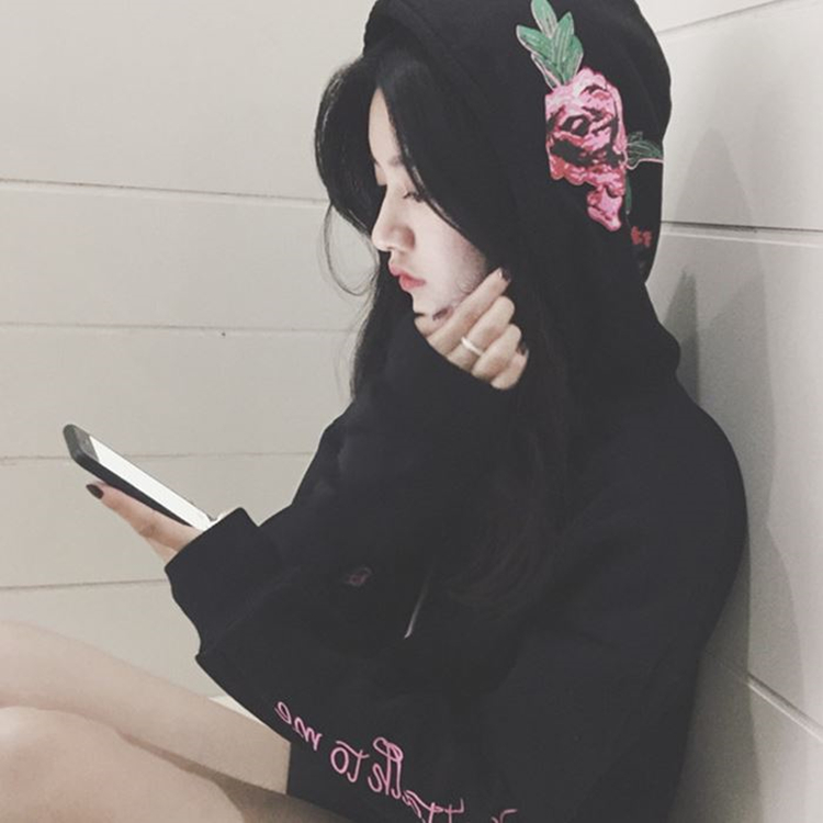 Kpop GOT7 concert Wang Jiaer à capuche automne et hiver avec lâche grande taille plus velours veste devrait aider vêtements k-pop got-7