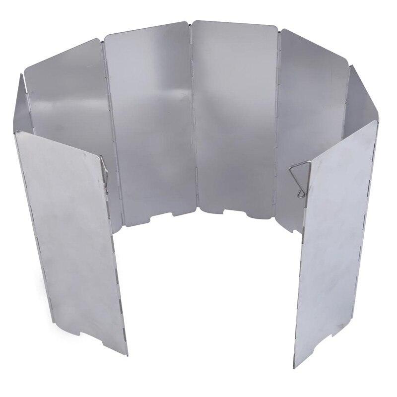 Dayanıklı iyi anlaşma 8 tabaklar Fold Kamp Ocak Gaz Ocağı Rüzgar Shield Ekran Katlanabilir Açık