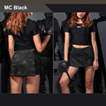 Camuflagem Multicam Tático Mulher Culottes Saias MCBK mulher quente saia