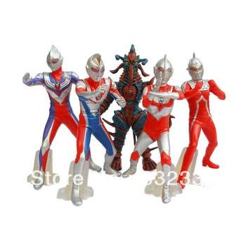 Pop Ultraman font b action b font font b figure b font VS monster 5pcs set