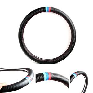 Image 3 - Srxtzm capa para volante automotivo, capa de fibra de carbono com 38cm para bmw x1 x3 x5 x6 e36 e39 e46 e30 e60 e90 f30 320i 325i 330i
