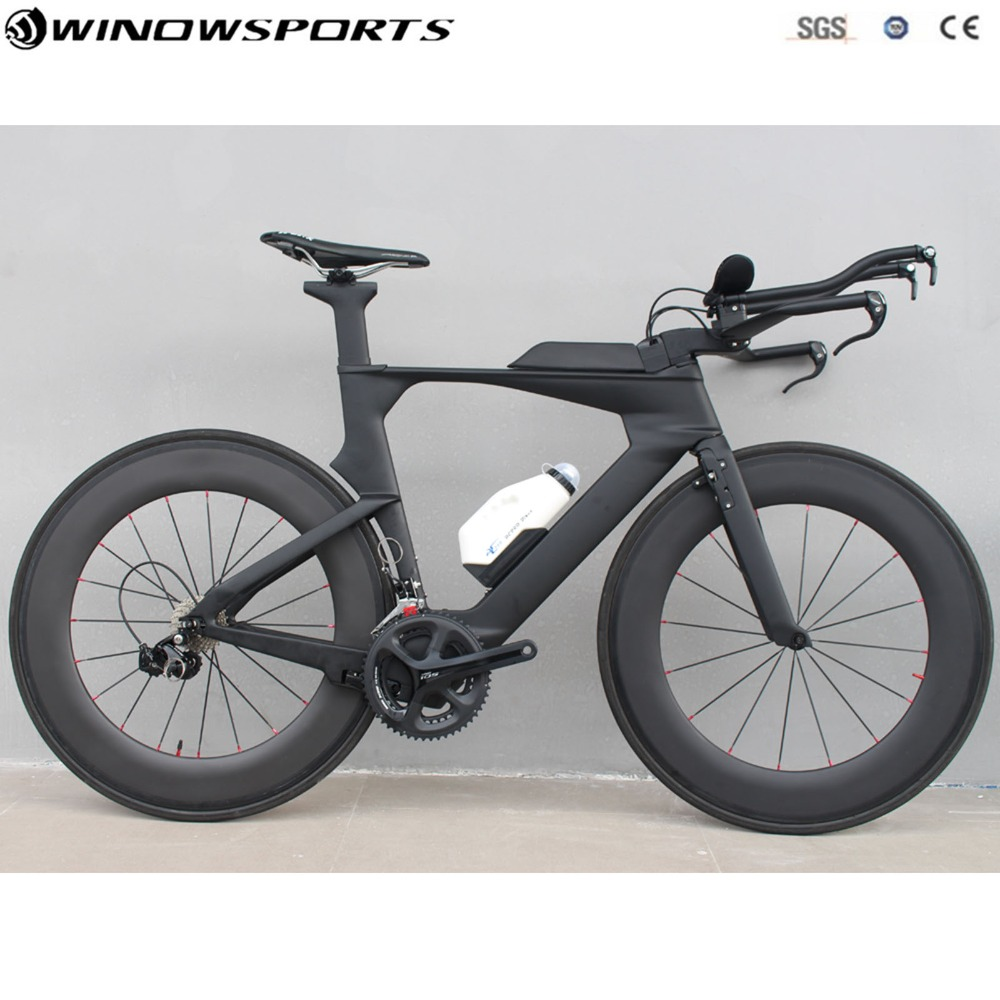 Carbone contre-la-montre vélo complet triathlon TT vélo 22 vitesses 105/R8000 Groupset tt vélo vélo cadre szie 48/51/54cm